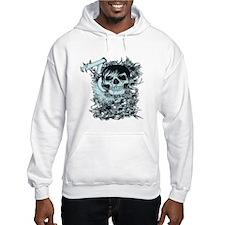 Blu skull Hoodie