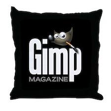 GIMP Magazine Throw Pillow