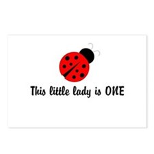 First Birthday Ladybug Postcards (Package of 8)