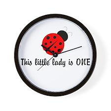 First Birthday Ladybug Wall Clock