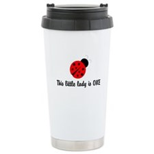 First Birthday Ladybug Travel Coffee Mug