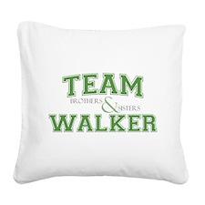 Team Walker Square Canvas Pillow