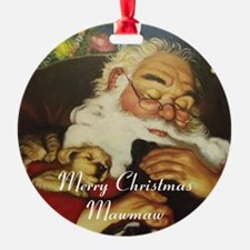 Merry Christmas Mawmaw Round Ornament