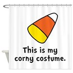 Candy Corn Corny Costume Shower Curtain