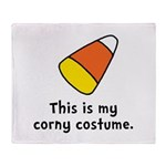 Candy Corn Corny Costume Throw Blanket
