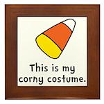 Candy Corn Corny Costume Framed Tile
