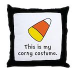 Candy Corn Corny Costume Throw Pillow