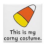 Candy Corn Corny Costume Tile Coaster