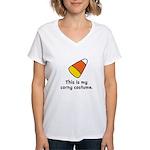 Candy Corn Corny Costume Women's V-Neck T-Shirt