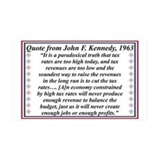 John F Kennedy Quote On Taxes Wall Decal