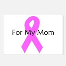 Pink ribbon for my mom Postcards (Package of 8)