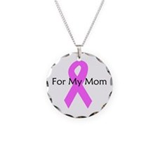 Pink ribbon for my mom Necklace