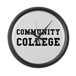 Community College Large Wall Clock