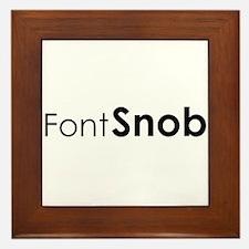 Font Snob Framed Tile
