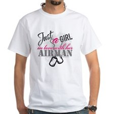 Just a girl Airman Shirt