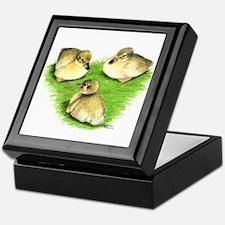 Snowy Mallard Ducklings Keepsake Box