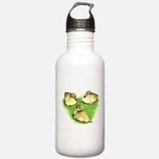Snowy Mallard Ducklings Water Bottle