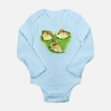 Snowy Mallard Ducklings Long Sleeve Infant Bodysui