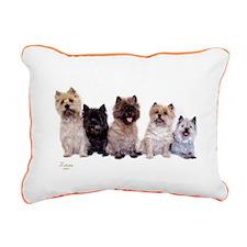 Cairn Terriers Rectangular Canvas Pillow