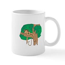 Sleeping Monkey in a Tree Mug