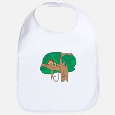 Sleeping Monkey in a Tree Bib