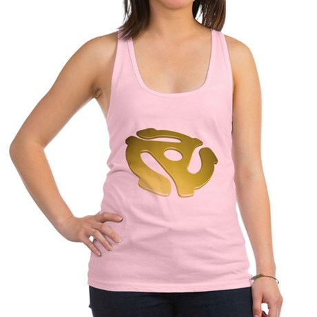 Gold 3D 45 RPM Adapter Racerback Tank Top