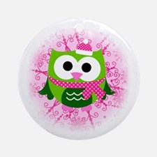 Winter owl Ornament (Round)