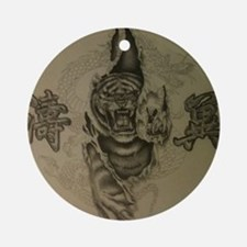 Hardcore Tiger! Ornament (Round)