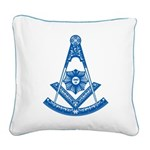 Past Master Square Canvas Pillow