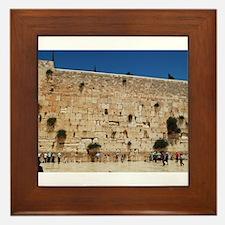 Western Wall (Kotel), Jerusalem, Israel Framed Til
