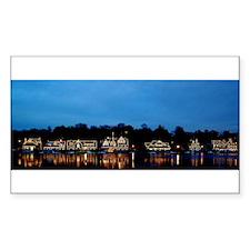 Boathouse Row, Nighttime Panoramic Decal