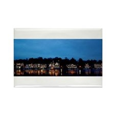 Boathouse Row, Nighttime Panoramic Rectangle Magne