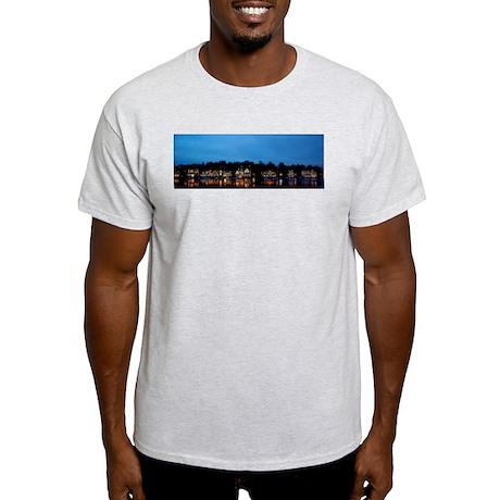 Boathouse Row, Nighttime Panoramic Light T-Shirt