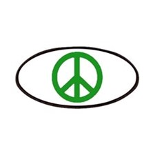 Green Peace sign Patches