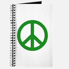 Green Peace sign Journal
