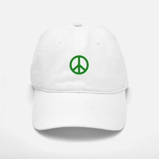 Green Peace sign Baseball Baseball Cap