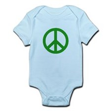 Green Peace sign Infant Bodysuit