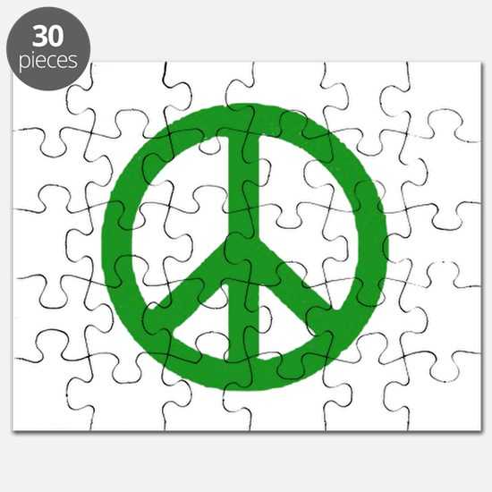 Green Peace sign Puzzle