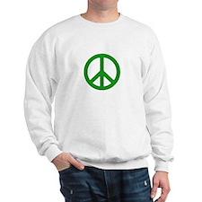 Green Peace sign Sweatshirt
