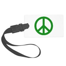 Green Peace sign Luggage Tag