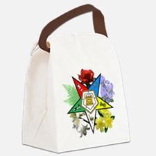 Eastern Star Floral Canvas Lunch Bag