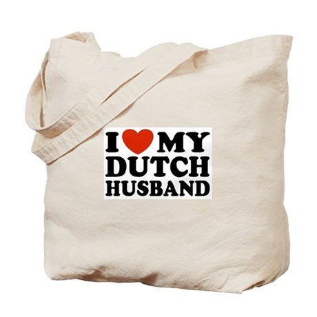 I Love My Dutch Husband Tote Bag
