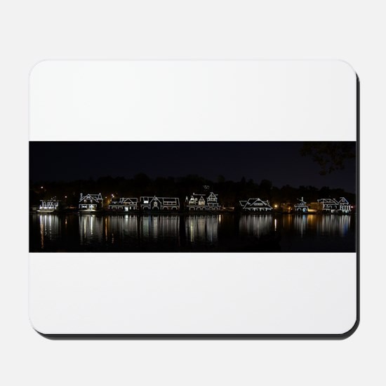 Boathouse Row Night Panoramic Mousepad