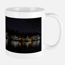 Boathouse Row Night Panoramic Mug