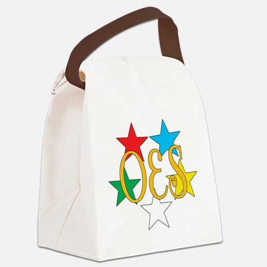 OES Circle of Stars Canvas Lunch Bag