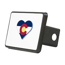 Colorado Flag Heart Hitch Cover
