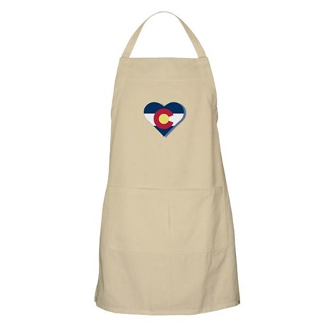 Colorado Flag Heart Apron