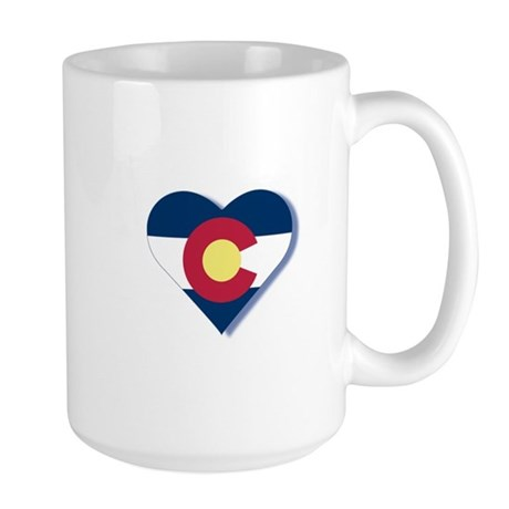 Colorado Flag Heart Large Mug