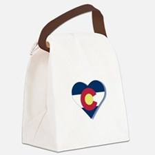 Colorado Flag Heart Canvas Lunch Bag