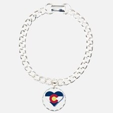 Colorado Flag Heart Bracelet